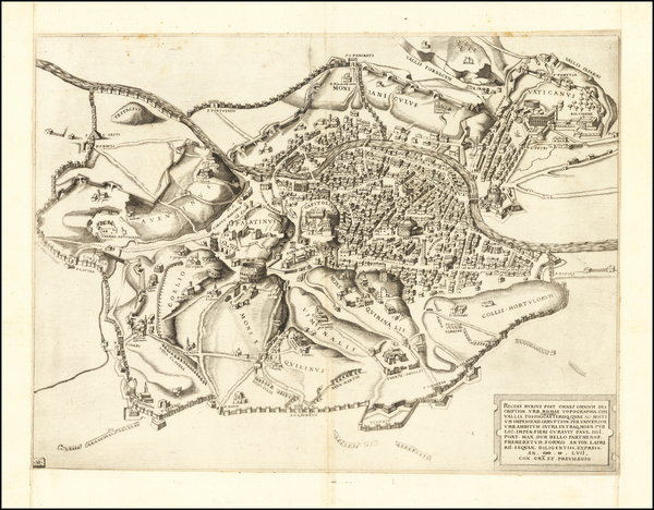 49-Rome Map By Antonio Lafreri / Nicolas Beatrizet