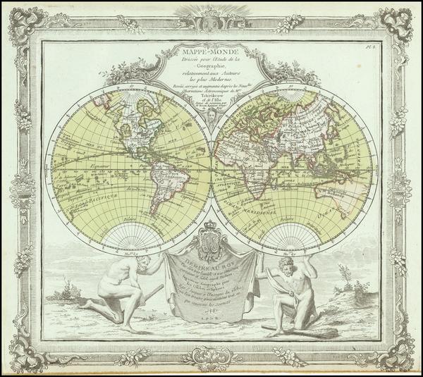 17-World Map By Louis Brion de la Tour