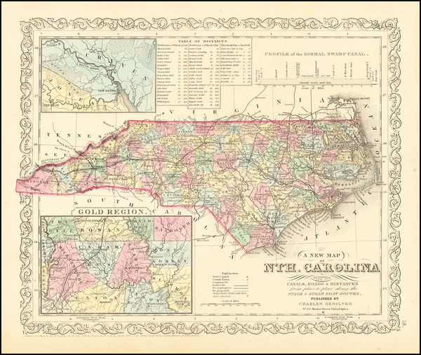 76-North Carolina Map By Charles Desilver