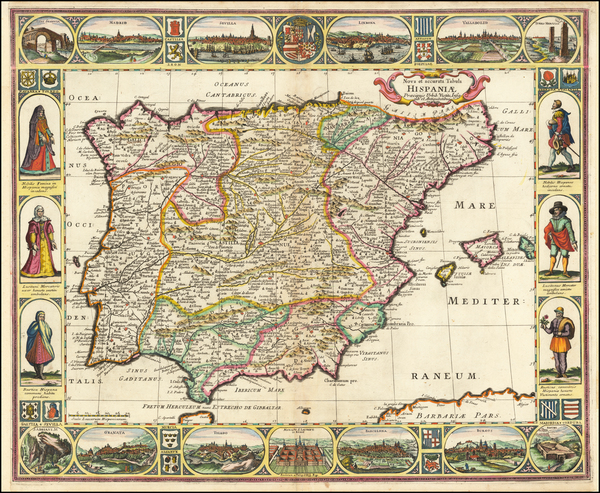 62-Spain and Portugal Map By Anonymous