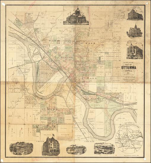 39-Iowa Map By C.R. Allen