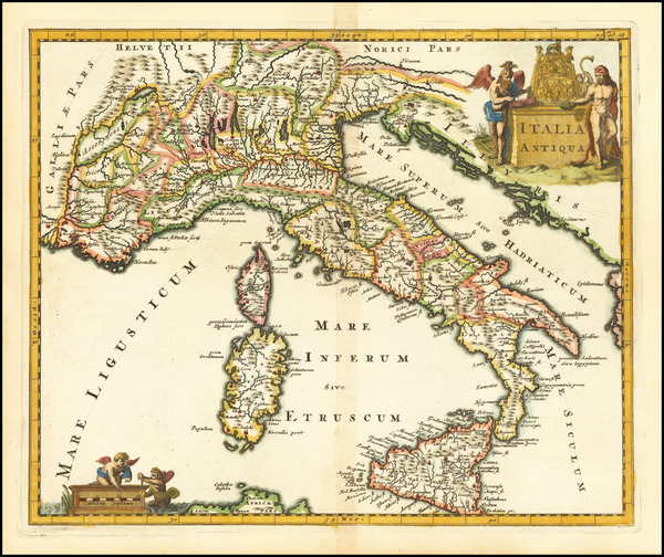 Italy Map By Philipp Clüver