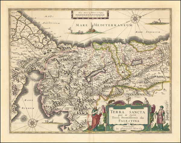65-Holy Land Map By Willem Janszoon Blaeu