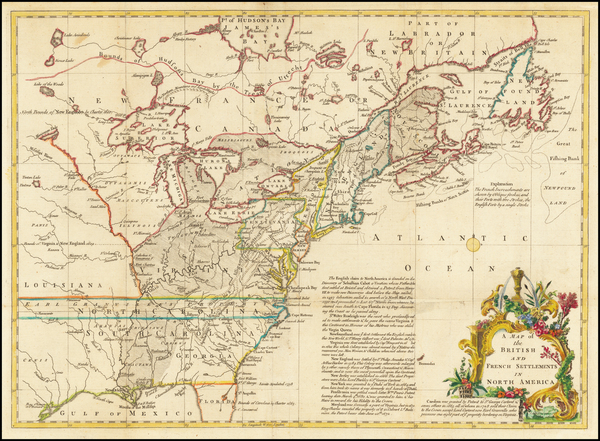 14-United States Map By Gentleman's Magazine