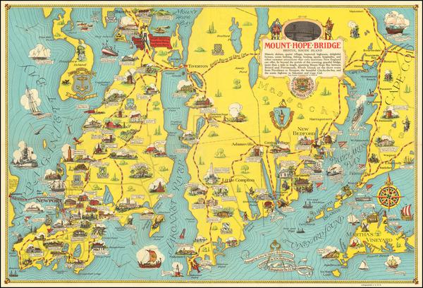 67-Massachusetts and Rhode Island Map By H.W. Hetherington