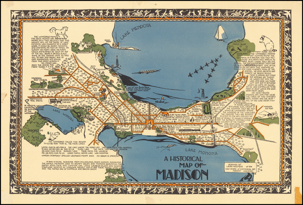 79-Wisconsin and Pictorial Maps Map By Laura Kremers