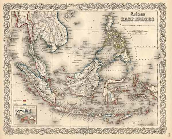 56-Asia, Southeast Asia, Australia & Oceania and Other Pacific Islands Map By Joseph Hutchins
