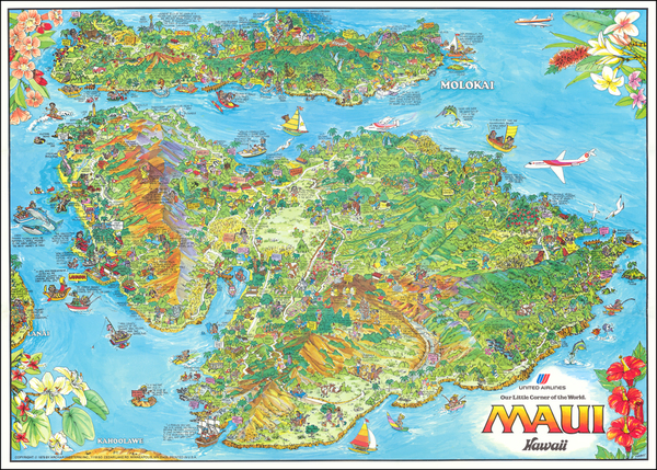 23-Hawaii, Hawaii and Pictorial Maps Map By Kim Forrest