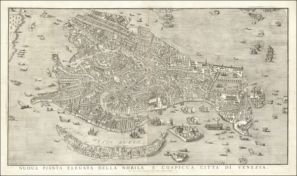 75-Venice Map By Lodovico Furlanetto