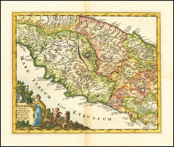 76-Northern Italy Map By Philipp Clüver