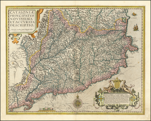 68-Spain Map By Abraham Ortelius / Johannes Baptista Vrients