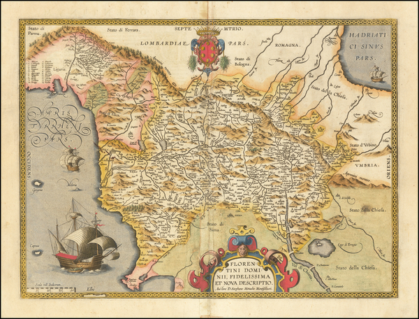 50-Northern Italy Map By Abraham Ortelius