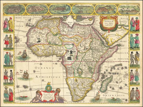 Africa Map By Jodocus Hondius / Jan Jansson