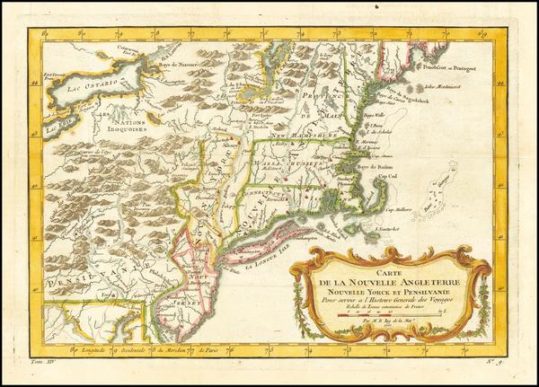 100-New England, Massachusetts, New York State, Mid-Atlantic, New Jersey and Pennsylvania Map By Ja