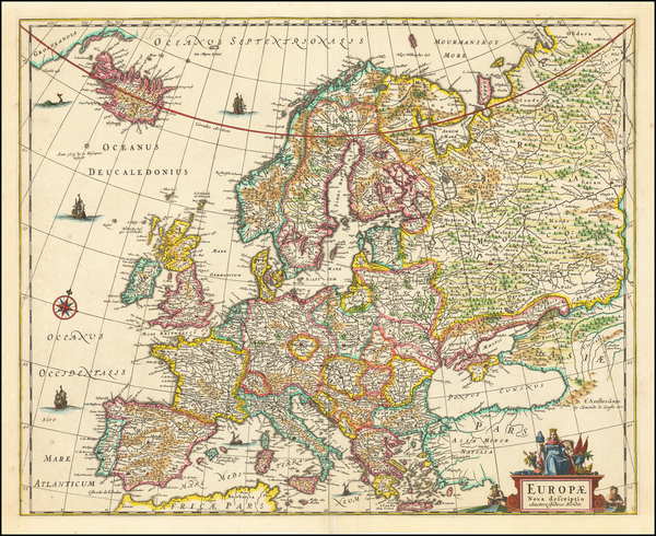 34-Europe Map By Clement de Jonghe