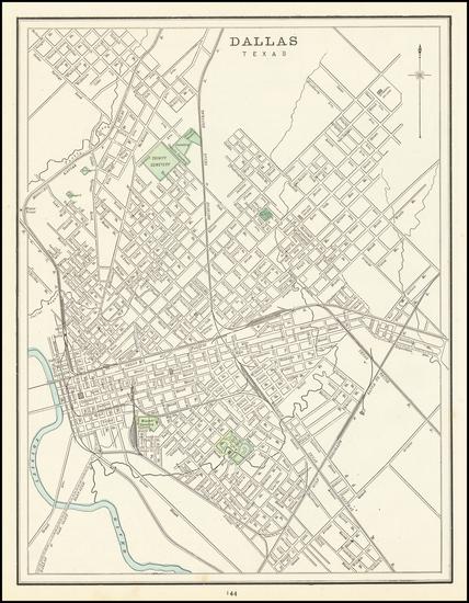 88-Texas Map By George F. Cram