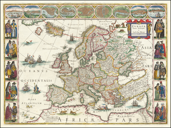 1-Europe Map By Willem Janszoon Blaeu