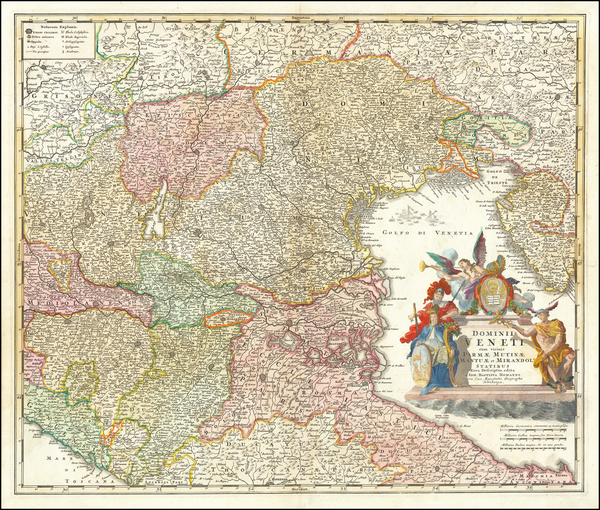 20-Balkans and Northern Italy Map By Johann Baptist Homann