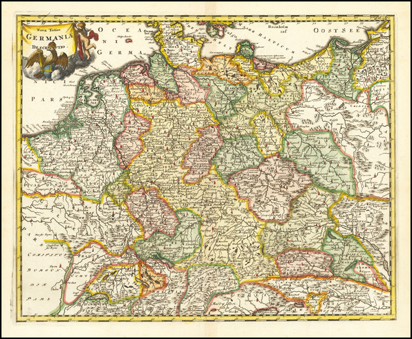 67-Germany and Poland Map By Philipp Clüver