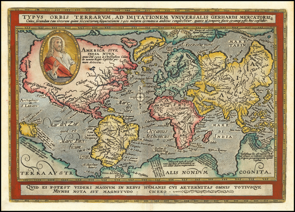 97-World Map By Matthias Quad / Johann Bussemachaer