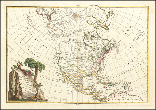 89-North America Map By Jean Janvier