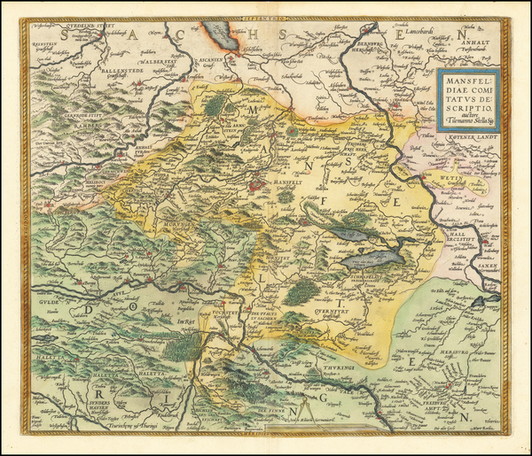 23-Germany Map By Abraham Ortelius