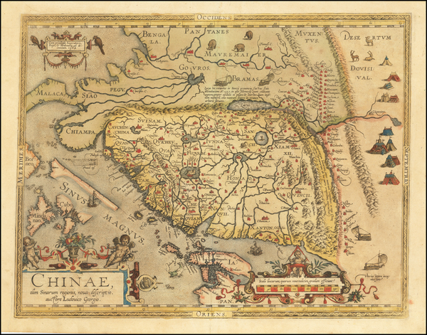 57-China, Japan, Southeast Asia and Philippines Map By Abraham Ortelius