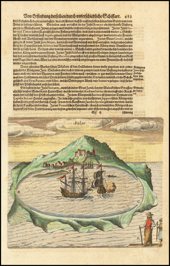 75-Indonesia Map By Theodor De Bry