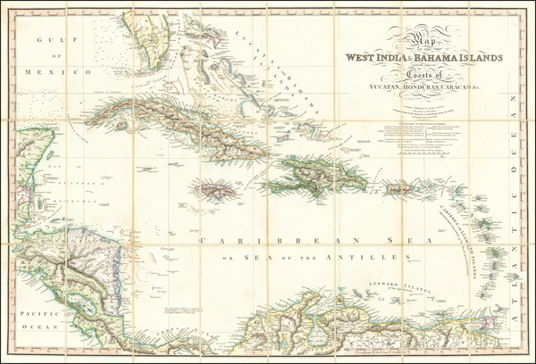3-Florida, Caribbean and Central America Map By James Wyld