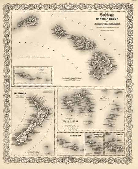 28-Hawaii, Australia & Oceania, Oceania, New Zealand, Hawaii and Other Pacific Islands Map By