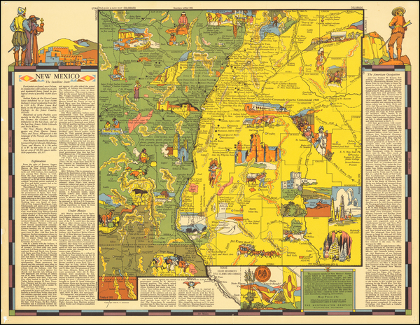 New Mexico Map By R.T. Aitchison