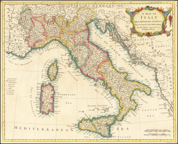 Italy Map By Richard William Seale