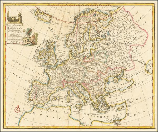 86-Europe Map By Emanuel Bowen