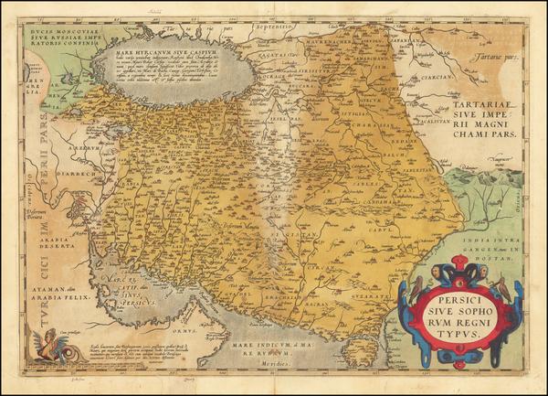 57-Persia & Iraq Map By Abraham Ortelius
