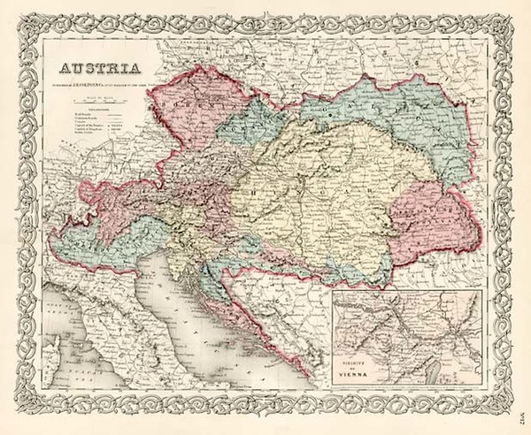 25-Europe, Austria, Hungary, Czech Republic & Slovakia and Balkans Map By Joseph Hutchins Colt