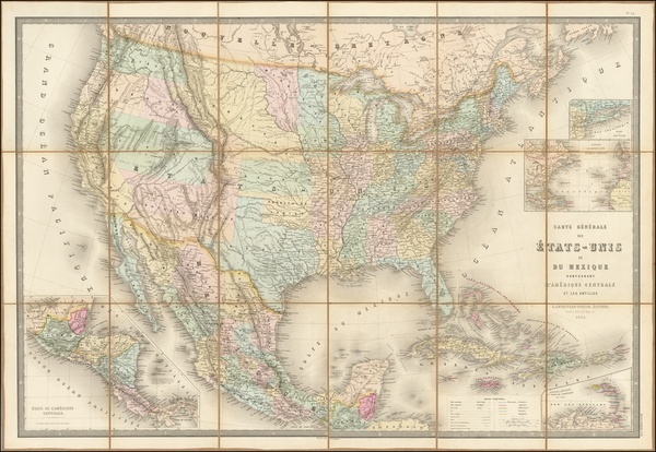 32-United States and Rocky Mountains Map By Eugène Andriveau-Goujon
