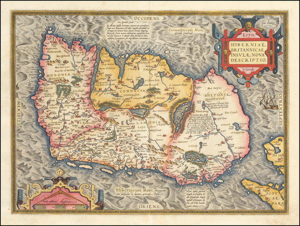 31-Ireland Map By Abraham Ortelius