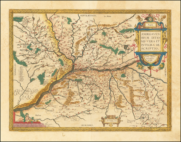 74-France and Centre et Pays de la Loire Map By Abraham Ortelius