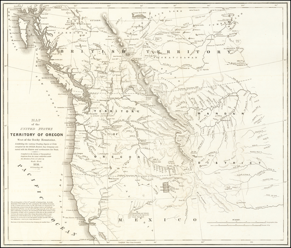 22-Idaho, Pacific Northwest, Oregon and Washington Map By Washington Hood