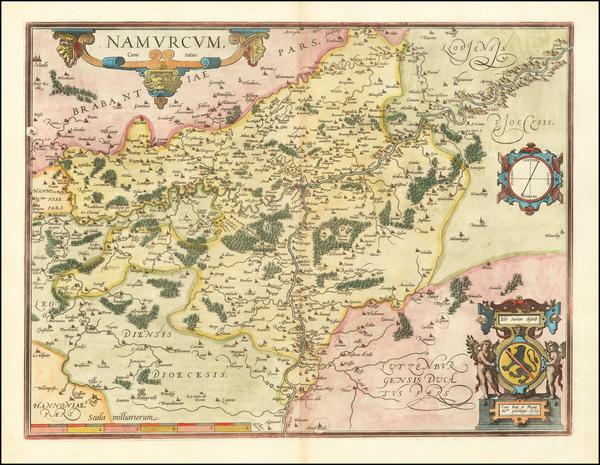 71-Belgium Map By Abraham Ortelius