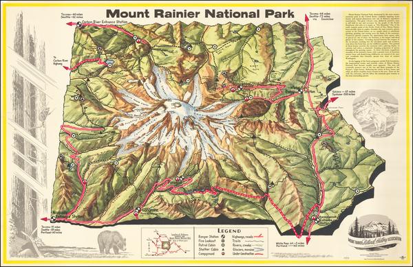 75-Washington Map By Dee Molenaar