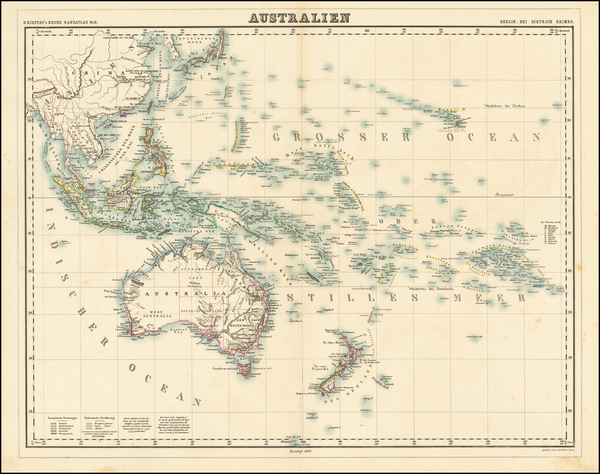54-Oceania Map By Heinrich Kiepert