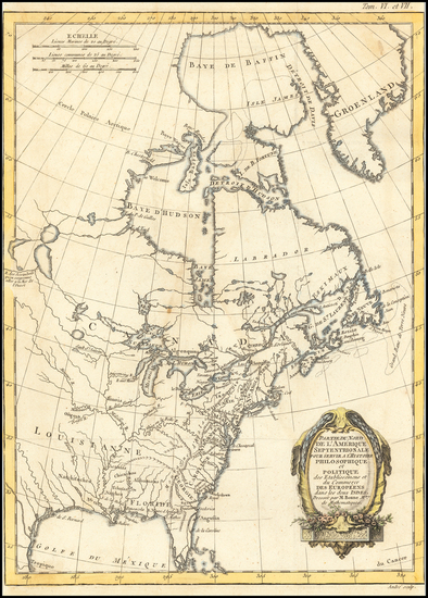 63-North America Map By Rigobert Bonne