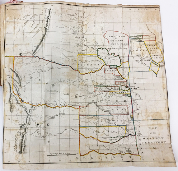 66-Plains, Kansas, Nebraska and Southwest Map By Washington Hood