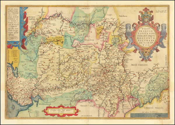 57-Germany Map By Abraham Ortelius