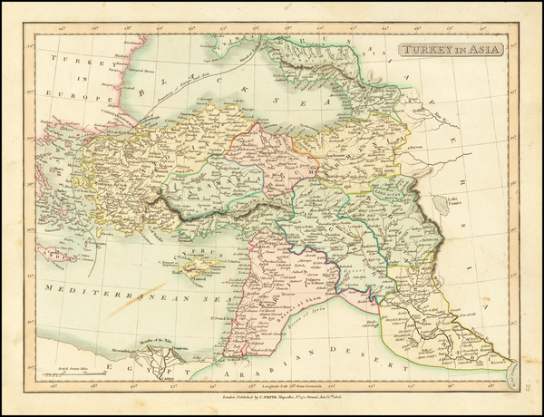80-Turkey, Central Asia & Caucasus and Turkey & Asia Minor Map By Charles Smith