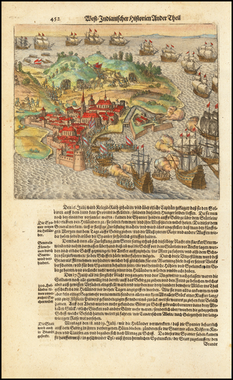 71-African Islands, including Madagascar Map By Theodor De Bry
