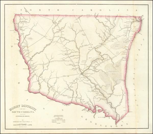 6-South Carolina Map By Robert Mills