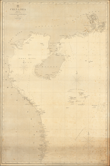 85-China and Hong Kong Map By British Admiralty