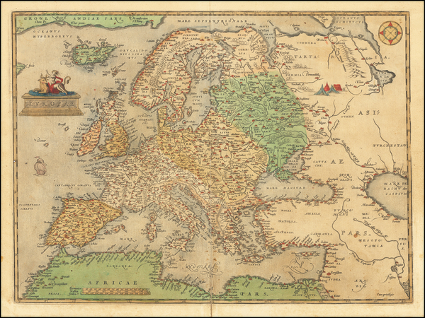 32-Europe Map By Abraham Ortelius
